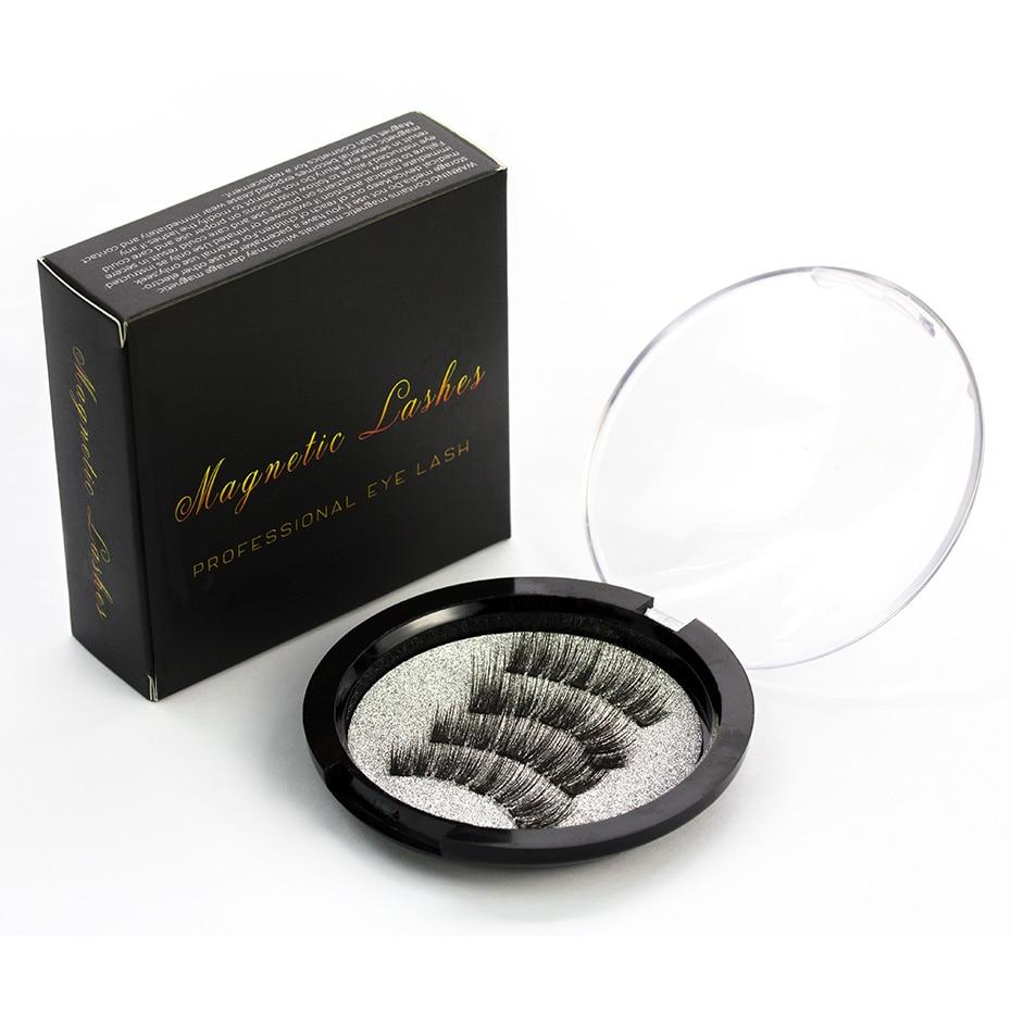 3 imán 3D magnético imán para pestañas magnético falso imán para pestañas ic ojo pestañas maquillaje 24P-3