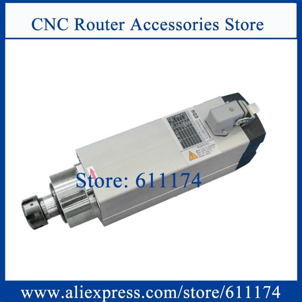 HQD GDF60-18Z/4.5 AC380V CNC طحن 4.5Kw 18000RPM تبريد الهواء المغزل موتور ER32 الخشب المغزل موتور