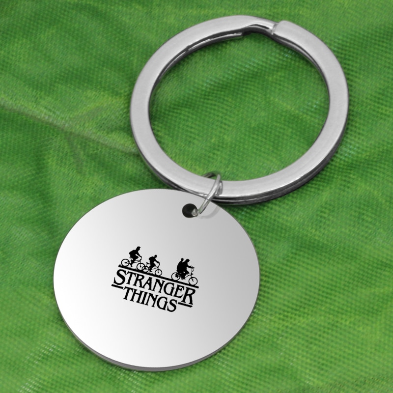 Classic HBO Game stronger things pendant stainless steel Jewelry Key Holder K073 Ufine