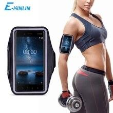 Sport Gym Entraînement Étui Brassard Pour Nokia C1 9 PureView 8 Sirocco X7 X6 7 Plus 6 5 3 2 V 1 2018 Housse de téléphone