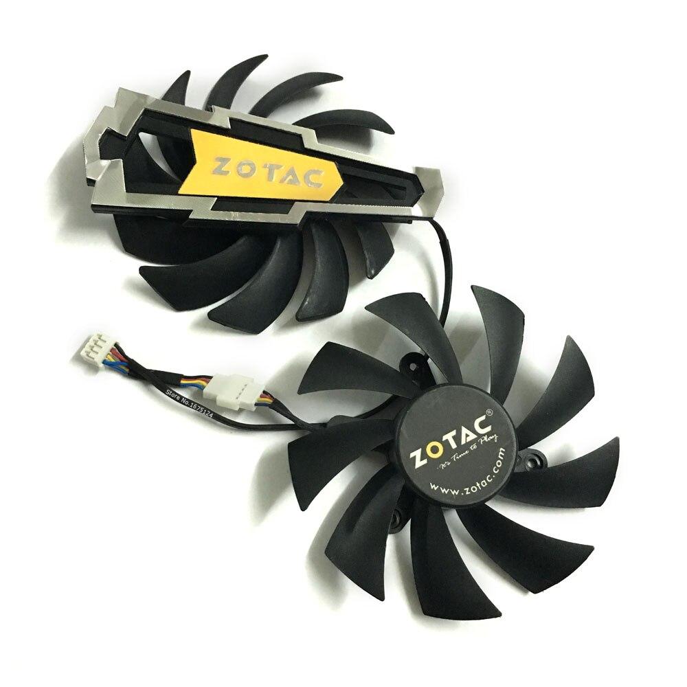 2 unids/lote ventilador para tarjeta gráfica ventiladores enfriadores gtx660/660ti/670 VGA GPU para ZOTAC GTX660 GTX660ti GTX670 tarjeta de vídeo