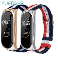 Холщовый нейлоновый ремешок YUEDAER для Xiaomi Mi Band 4, аксессуары для браслетов, тканевые ремешки для Xiaomi Mi Band 3