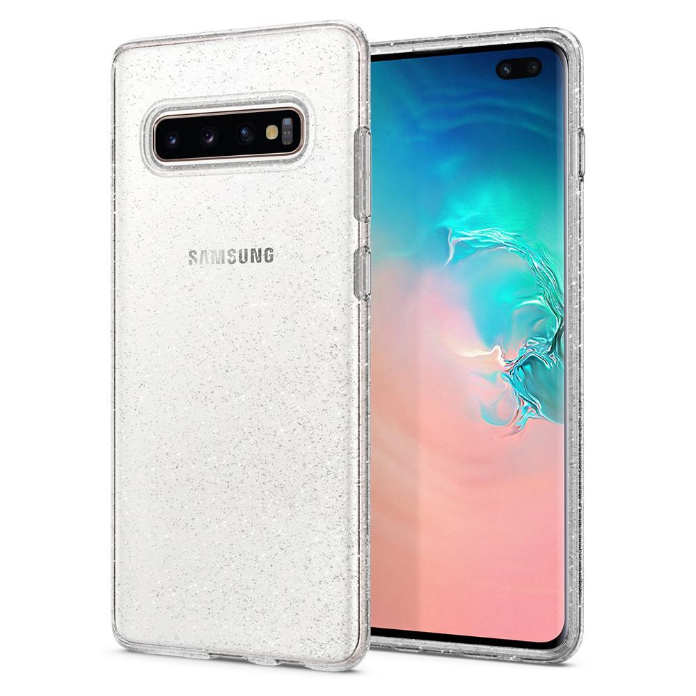 100% Original funda SPIGEN Liquid Crystal claro y brillo suave Flexible Durable para Samsung Galaxy S10 Plus/S10 +/S10E
