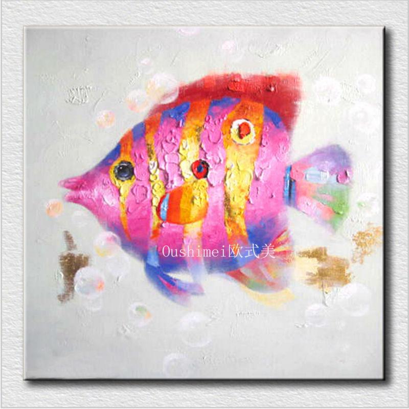 Envío Gratis, 1 Uds., arte de pared de pescado, decoración del hogar, lienzo, decoración atística de pared para pintura para sala de estar, habitación de niños