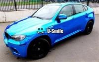 flexible blue chrome vinyl wrap sticker decal chrome blue vinyl sheet air bubble free car wrapping