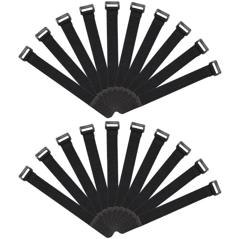 10/20 piezas, abrazadera de caña de pescar reutilizable, tirantes, correas de lazo, cinta de gancho y lazo, corbatas, correa, aparejos de Pesca
