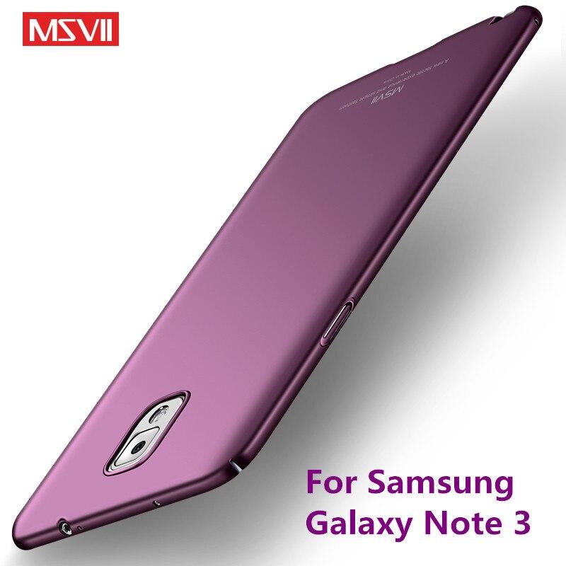 Для Samsung Galaxy Note 3 чехол msvii брендовый ультра тонкий жесткий задняя крышка