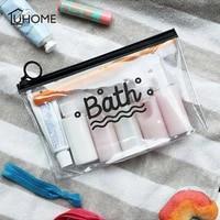 Sacs a cosmetiques transparents en PVC givre  trousse de toilette  organisateur de rangement de maquillage  trousse de beaute  sacs de lavage pour dames  poche etanche pour telephone