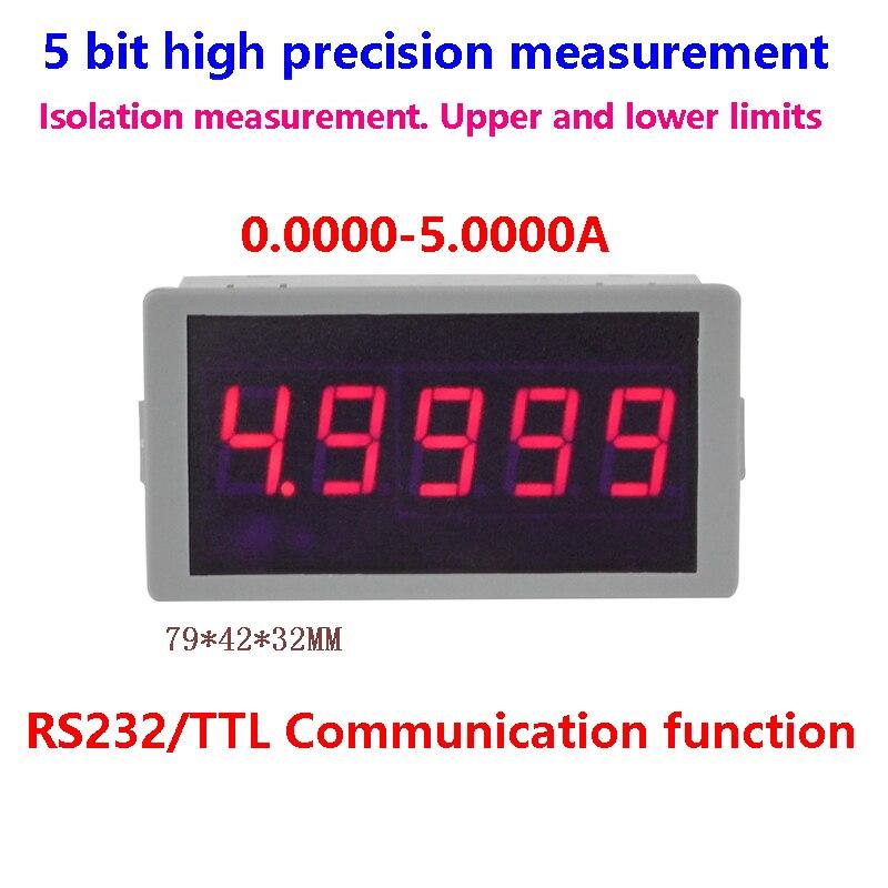 Высокоточный Амперметр GWUNW BY56W 5.0000A (5A), 5 бит, RS232 Серийный сигнал сигнализации