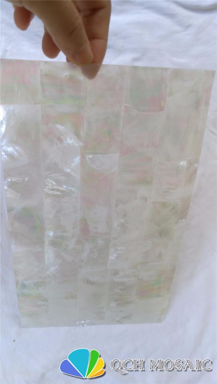 صفائح من خشب اللؤلؤ الأبيض من الدرجة AAA لأداة موسيقية وطعم خشبي qch119 10 قطعة/الوحدة نمط الطوب
