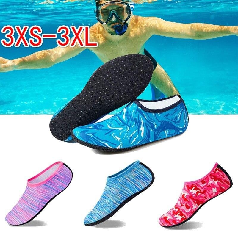Zapatillas de agua para nadar, zapatos de playa Unisex para hombre y mujer, zapatillas de agua suaves para caminar y bucear, Calcetines antideslizantes, zapatillas de deporte, zapatillas de mar