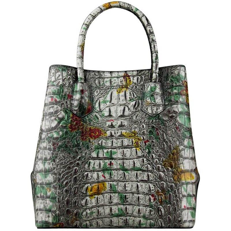¡Novedad de 2020! bolso de mano LUOFEIHUA de piel de cocodrilo de alta gama, bolso de mano de piel texturizada, bolso de Diseñador de Bolsos de gran capacidad