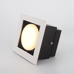 LED Ceiling Lights Single LED Embeded spot lamps GX53 9W led modules ceiling light Square lamp home Lighting for living room