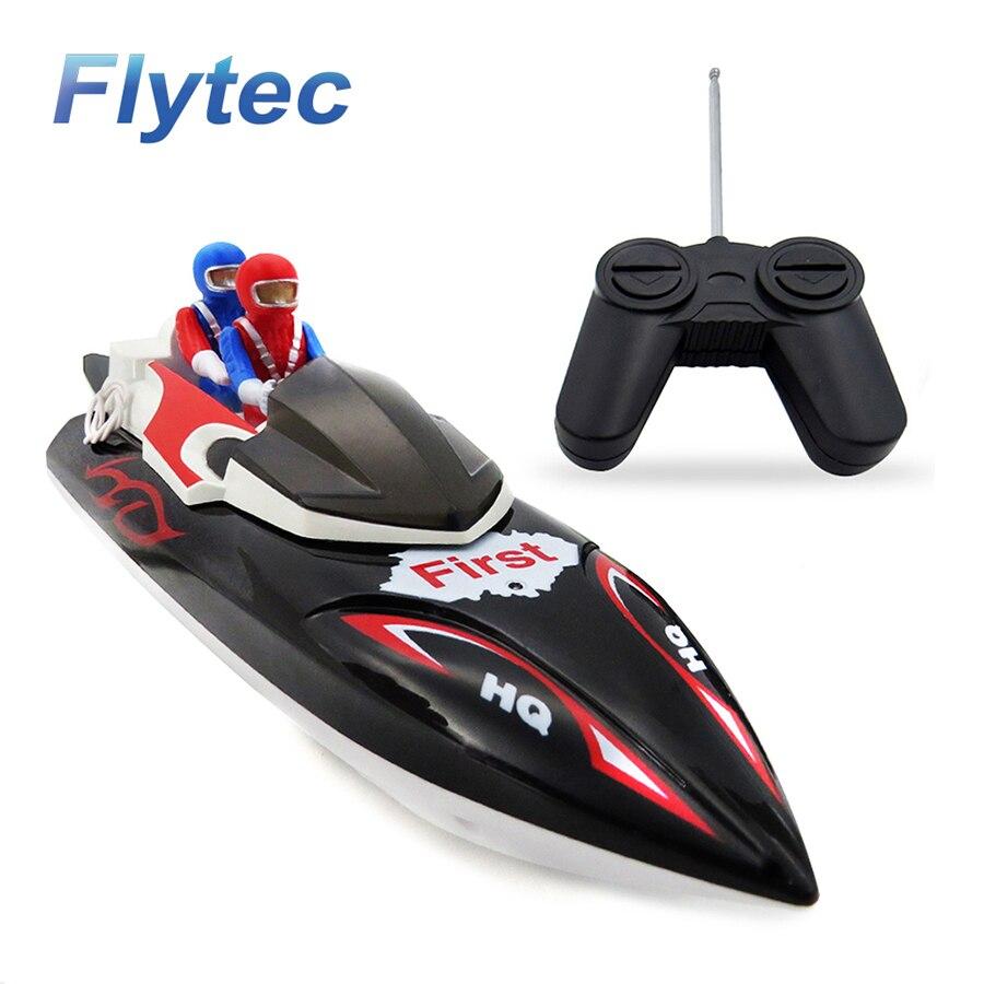 Flytec 2011-15B 40 MHZ 4CH 10 KM/H vela de alta velocidad RC Barco de juguete de carreras RC para niños