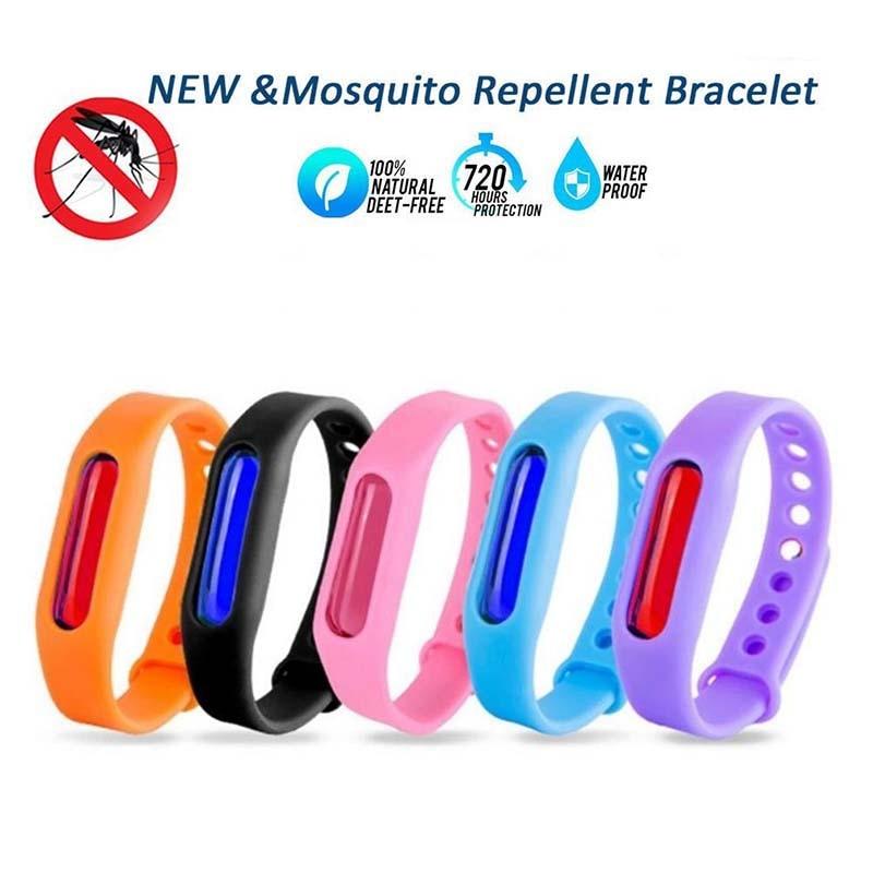 Pulsera antimosquitos 5 uds. Repelente de insectos, pulsera de silicona repelente de insectos, pulsera de bloqueo B2Cshop