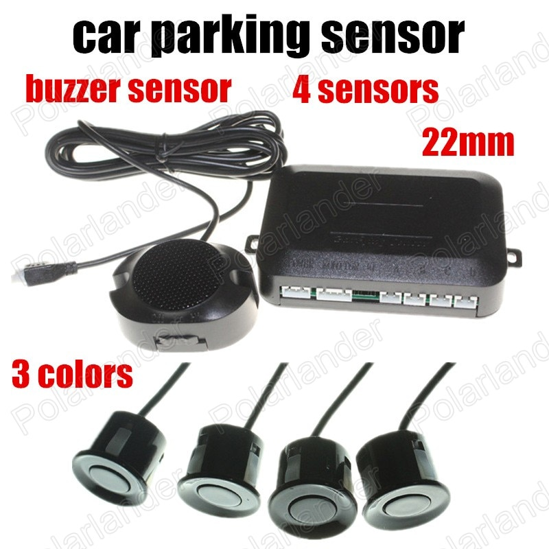 Summer Sensor 4 Sensoren 3 Farben Auto Parkplatz Sensor schalter 22mm 12V Reverse Sound Alarm Anzeige System hohe qualität