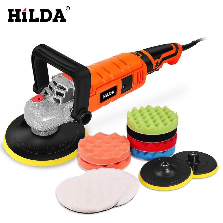 Автомобильный полировщик HILDA 1200 Вт с переменной скоростью 3000 об/мин, инструмент для ухода за краской, полировальная машина, шлифовальный ста...