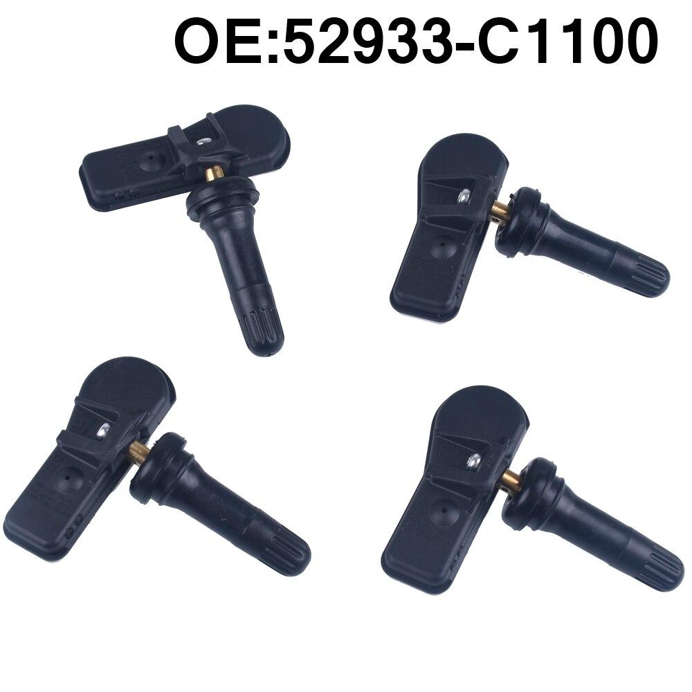 4 pces monitor de pressão dos pneus do carro sensor tpms 52933c1100 52933-c1100 para hyundai sonata 2014 2015 2016 2017 2018 2019