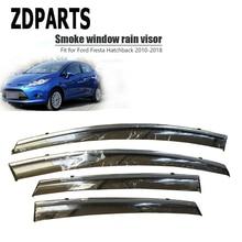 ZDPARTS 4 Uds deflector de viento de coche protector solar ventilación de lluvia visera cubierta embellecedor accesorios para Ford Fiesta Hatchback 2010-2018 ABS