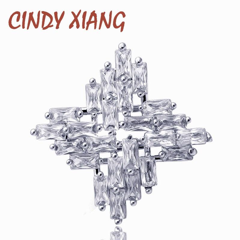 CINDY XIANG nouveauté zircon cubique collier broche bijoux brillant étincelles croix petite broche été chemise accessoires bon cadeau