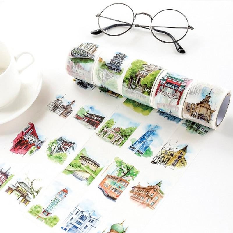 4cm*7m China travel washi tape DIY decorative scrapbooking sticker planner masking adhesive tape label sticker stationery