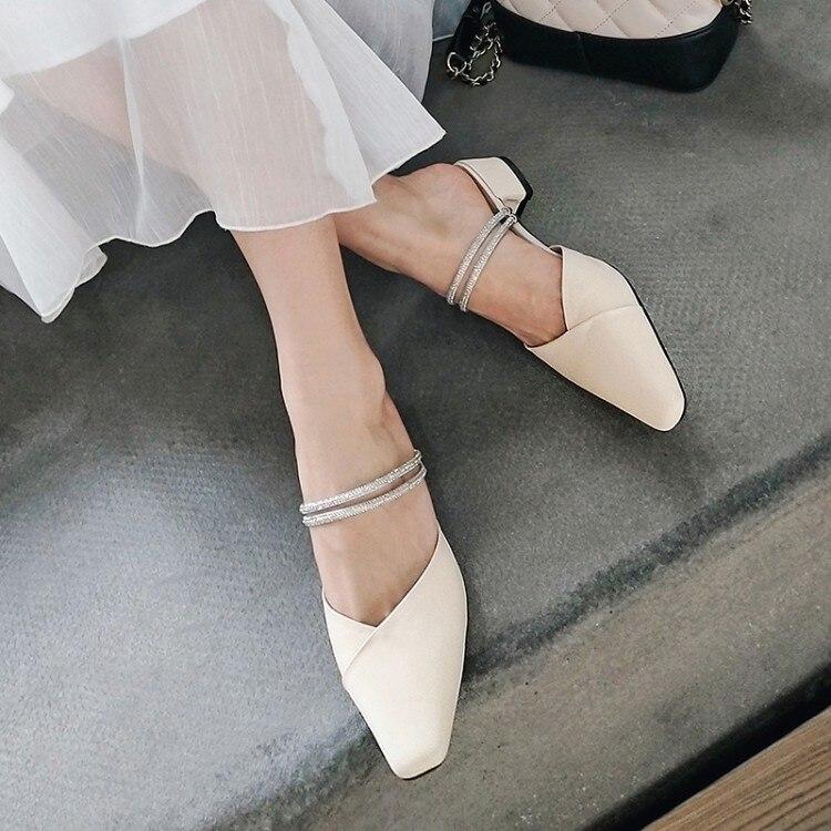Tamanho grande 11 12 13 14 sandálias das mulheres sapatos de salto alto senhoras mulher verão Baotou de Flash Broca Sapatos Moleiro