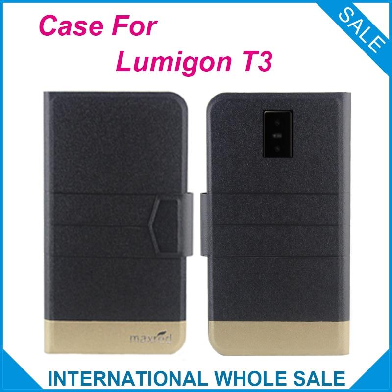 Супер хит! Чехол Lumigon T3, 5 видов цветов Модный деловой кожаный эксклюзивный чехол с магнитной застежкой для Lumigon T3