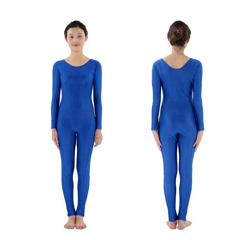 2019 Spandex Zentai Full Body Skin Tight Jumpsuit Unisex Zentai Suit Bodysuit Costume for Women Unitard Dancewear