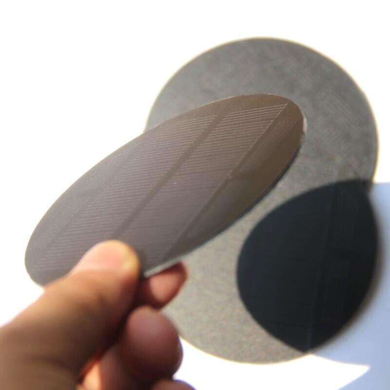 BUHESHUI, 0,85 W, 5,5 V, Mono, Panel Solar redondo para mascotas, para cargador de batería de 3,7 V, diámetro de luz, 91 MM, 10 uds, envío gratis