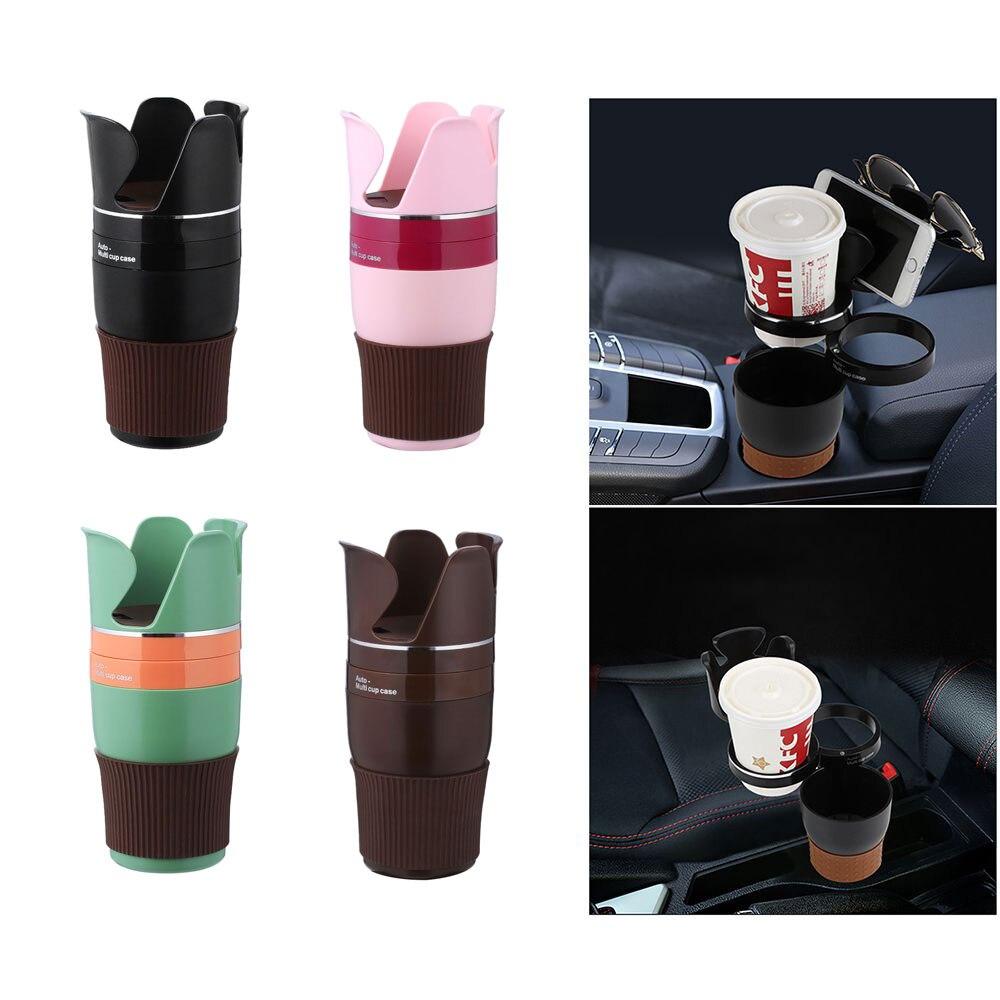 Soporte multifunción para teléfono de coche soporte para taza de bebida caja de almacenamiento para gafas de sol Auto soporte organizador para coche para llaves y monedas soporte para teléfono
