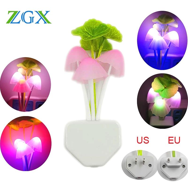 AliExpress - Mushroom Lamp Romantic Colorful LED Night Light Luminaria Intelligent Sensor Bedroom Kids Sleeping Home Automatic Startup Gift