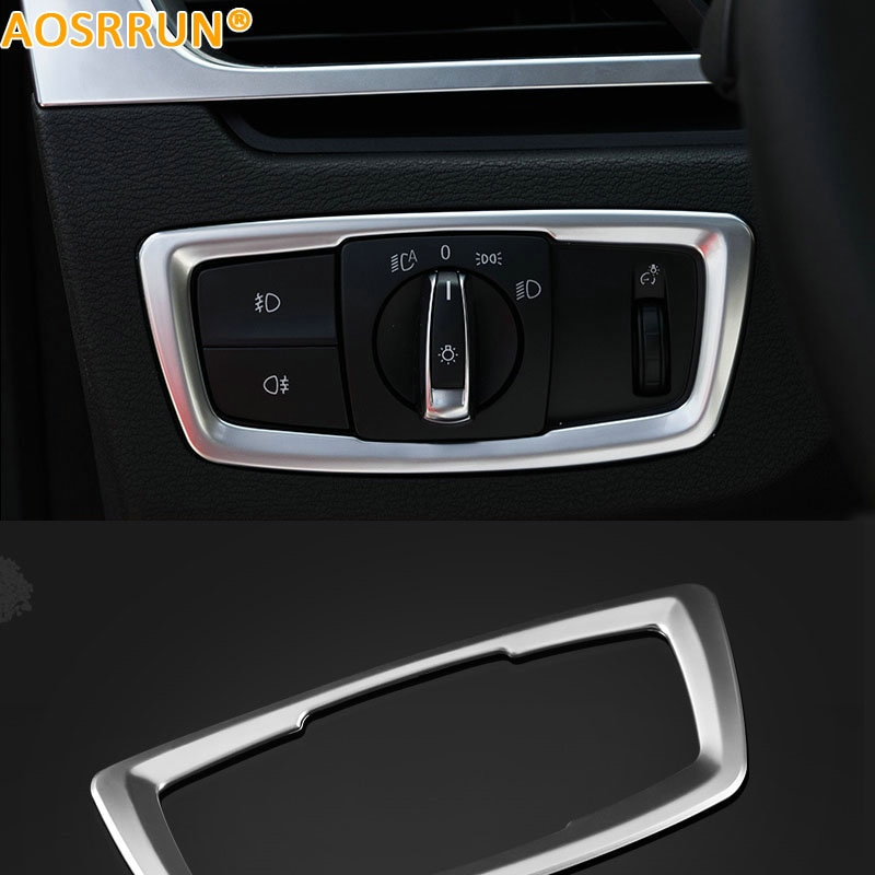 AOSRRUN headlight switch box Car accessories For BMW X1 F48 2015 2016 20i 25i 25le