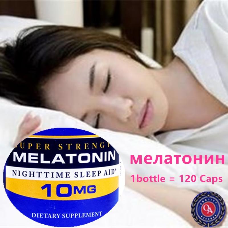 Super Strength Melatonin 10 Mg 120 Caps Night Time Sleep Aid