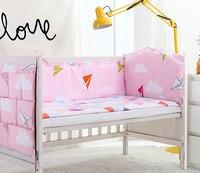 5PCS baby boy crib bedding set cuna jogo de cama bedding set cot sheets cuna crib bumper(4bumper+sheet)