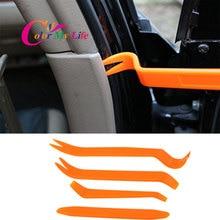 Farbe Mein Leben 4Pcs Auto Radio Panel Tür Clip Trim Dash für Ford Focus 2 3 für Chevrolet Cruze hyundai Solaris Fiat 500 500C 500L