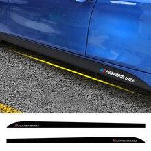 Für BMW F30 F31 F32 F33 F22 F23 F15 F85 F10 E60 E61 G30 E90 M Leistung Logo aufkleber Seite rock Vinyl Tuning Auto Zubehör