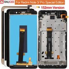 Para Xiaomi Redmi Nota 3/Pro SE Display LCD + Touch Screen + Quadro Digitador Substituição Da Tela de 152 milímetros Special Edition Versão Global