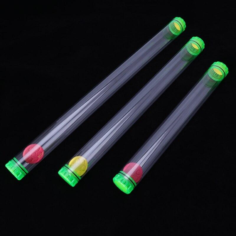 OOTDTY, tubo de flotador de pesca de plástico de alta calidad, 40/50/60cm de longitud, tapas protectoras de almacenamiento