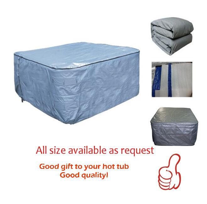 كيس غطاء سبا معزول ، 190 × 190 × 90 سنتيمتر ، مقاوم للماء ، مقاوم للأشعة فوق البنفسجية