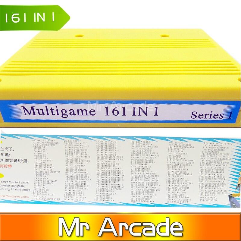 Бесплатная доставка MVS 161in1 neo geo mvs 161 в 1 мультиигровой картридж для игрового автомата