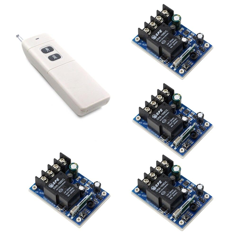 Dc 12 فولت-48 فولت اللاسلكي التحكم عن مفتاح بعيد ضوء الطاقة التبديل 1ch التقوية ، 4 × اللاسلكي استقبال + طويلة المدى الارسال