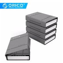 ORICO PHP-5S 5 baies 3.5 pouces boîte de protection/mallette de rangement pour disque dur (HDD) ou SDD avec fonction étanche-5 PCS/LOT