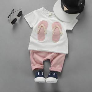 Baby Girls 1-2-3 Years Sweet Summer Clothing Set T-shirt + Shorts Cotton Two Piece Suit Infant Kids Costumes