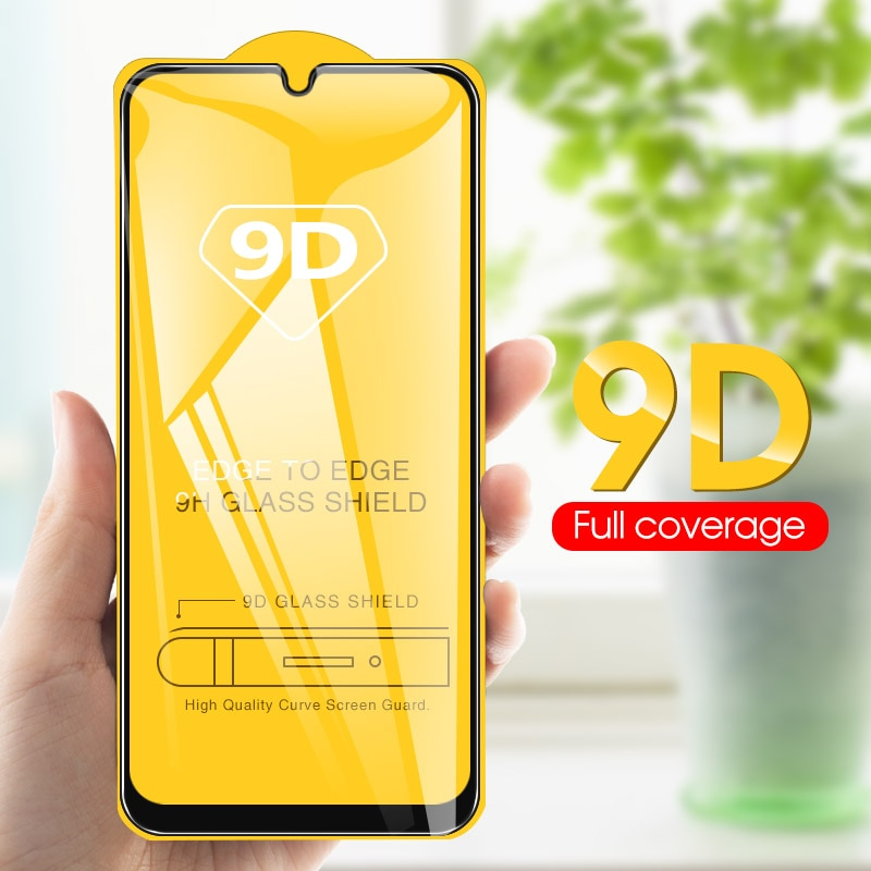 9D Curved Edge Full Cove For Samsung Galaxy A50 A40 A30 S10e A7 A750 A8 A9 2018 M20 M30 A51 Tempered Glass Screen Protector