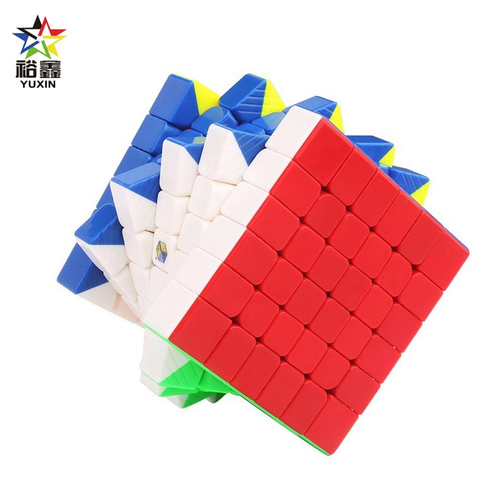 YUXIN Little Magic Professional Stickerless 6*6*6 cubo mágico Speed Puzzle 6x6 cubo juguetes educativos regalos cubo mágico 65mm