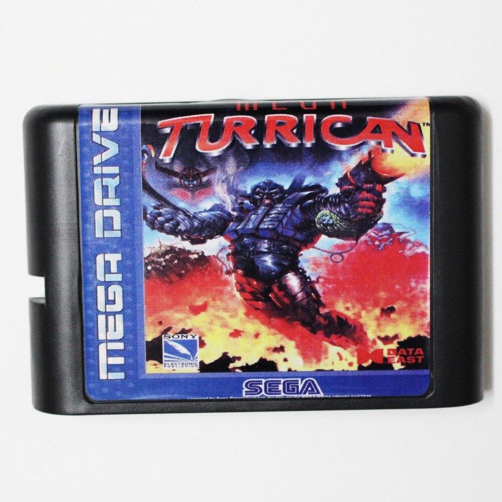 Mega turrican-cartucho de juego de 16 bits, tarjeta de juego para MegaDrive...