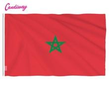 Bannière avec drapeau NATIONAL du royaume du maroc, 3*5 pieds, intérieur et extérieur, décoration de la maison, bureau suspendu, défilé, Festival, nouvelle mode