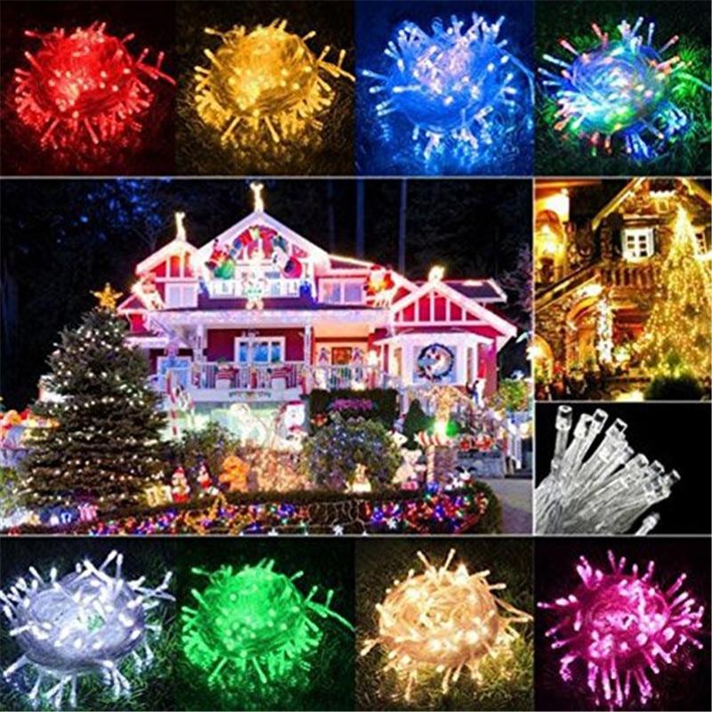 10M 20M 30M 50M 100M Fairy LED String Light Waterproof AC 220V LED Christmas Lights Holiday Decoration Indoor Outdoor Lighting