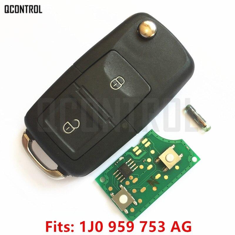 Qcontrol chave remota diy para vw/volkswagen beetle bora golf passat polo transporter t5 1j0959753ag/5fa008399-00