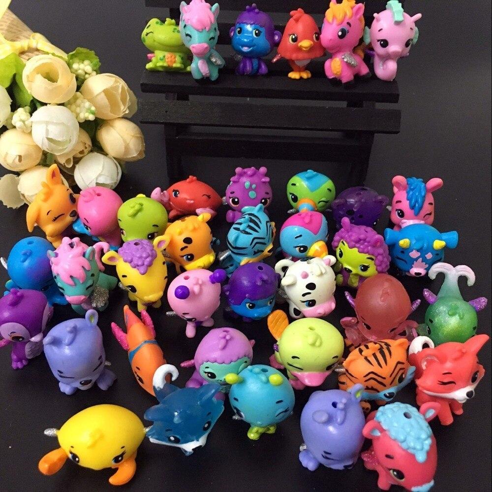 30/50/100 stücke/lot Cartoon Tiere Ei Puppen Fly Pferd Fisch Schlüpfen Magie Miniatur Action-figuren Mini Pet shop Puppen Kinder Spielzeug